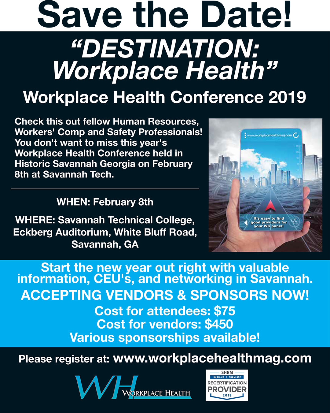 Destination Workplace Health Conference 2019 flyer